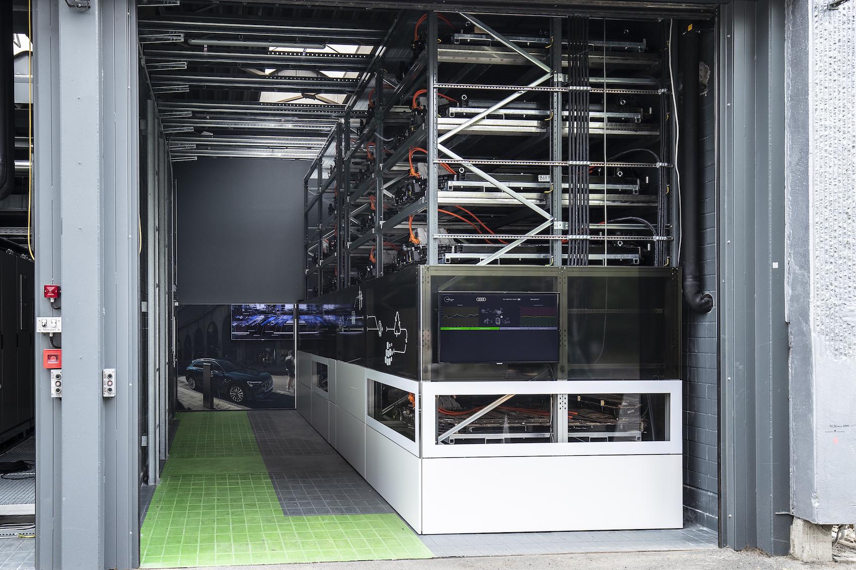 Blick in den Energiespeicher am EUREF-Campus.