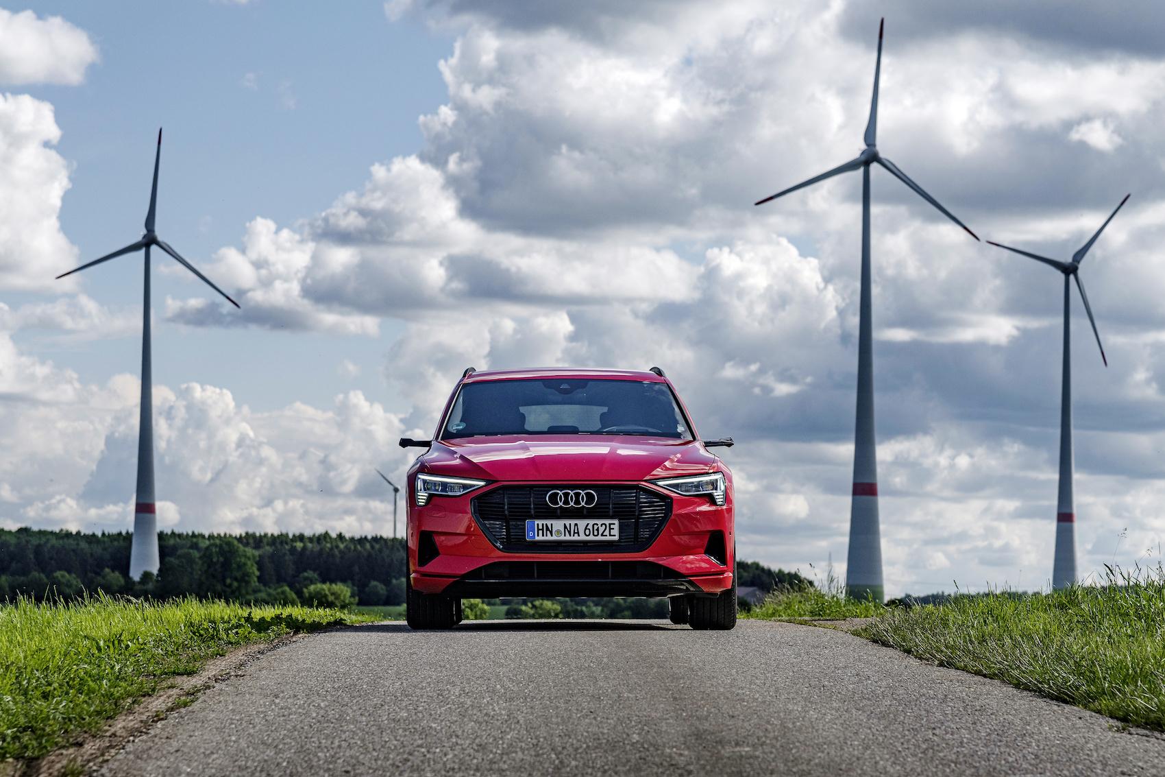 «Second Life»-Batterien sollen in Baden-Württemberg unter anderem Stromspitzen aus der Windenergie auszugleichen helfen. (AUDI)